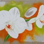 Orchideen auf Leinen